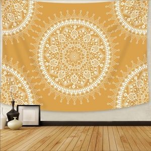 💕NEW Tapestry Yellow Mandala💕